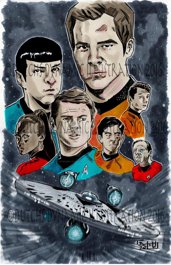 Star-Trek- Illustration by Dynamic-Illustration