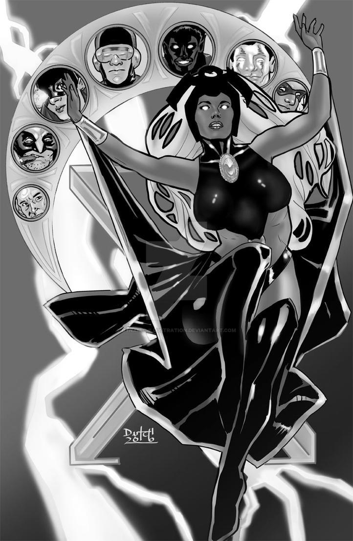 Storm Art Nouveau by Dynamic-Illustration