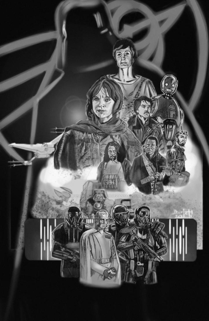 Rogue One BW by Dynamic-Illustration