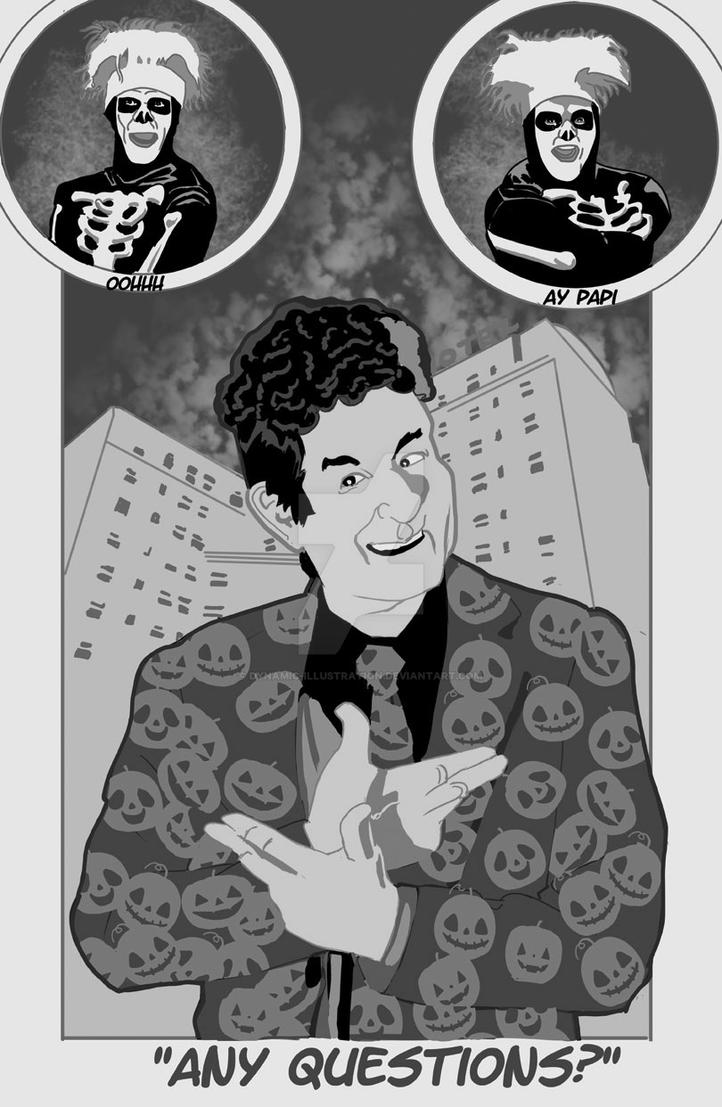 David S Pumpkins - Any Questions by Dynamic-Illustration