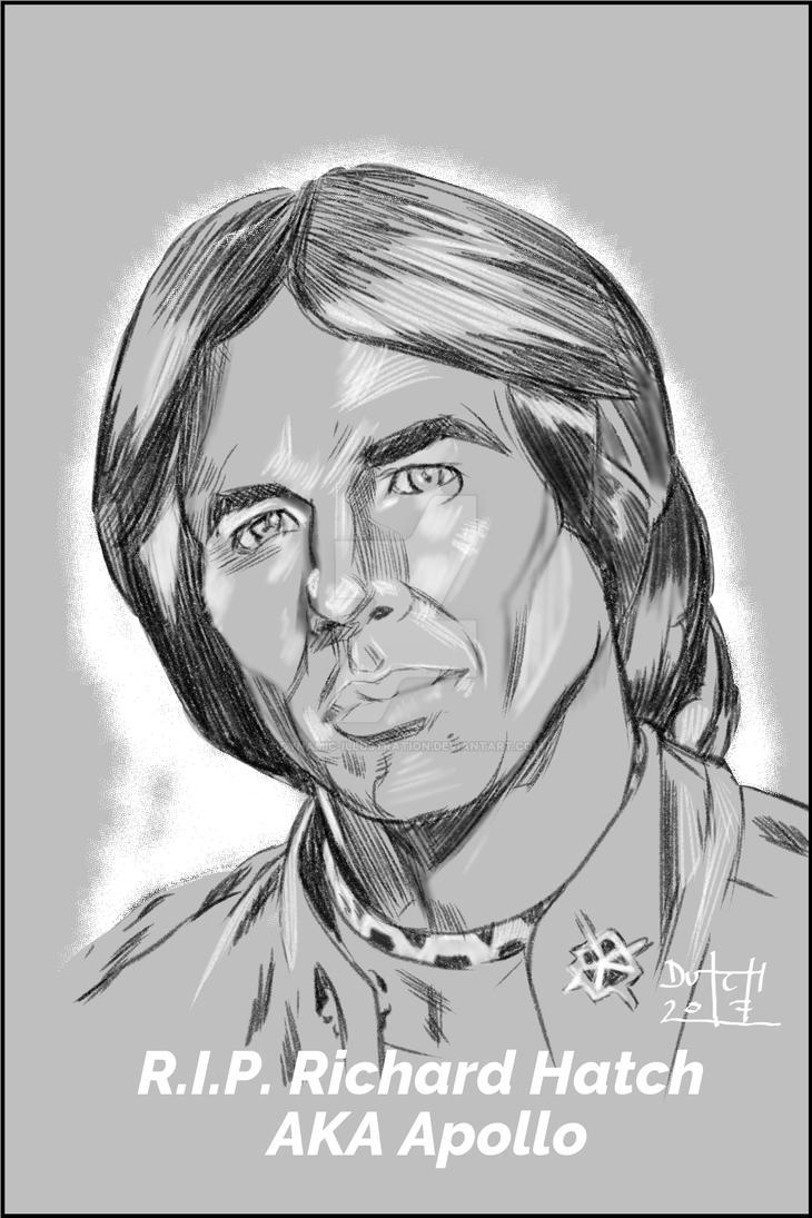 Richard Hatch Tribute by Dynamic-Illustration
