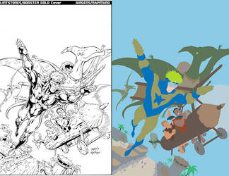Booster Gold Cover Flat