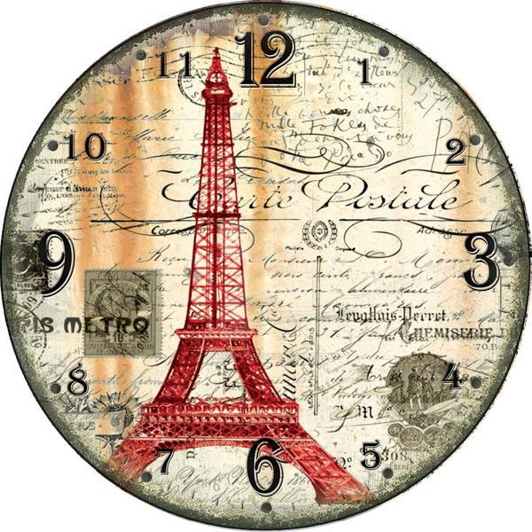 Wall clock art retro paris vintage 03 by jaircardoso on for Retro shop paris
