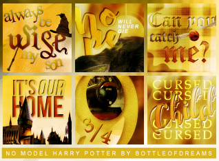 Harry Potter icon set (no model) by bottle-of-dreams