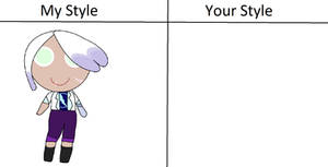 Draw Orchid Cookie in Your Style