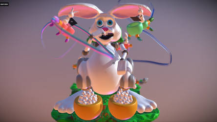 Easter Bunny Scene made In VR MasterpieceVR