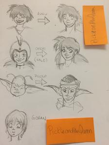 DBC character sheets growing up by ShirePower