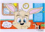 Bunny in the bedroom by Stefered