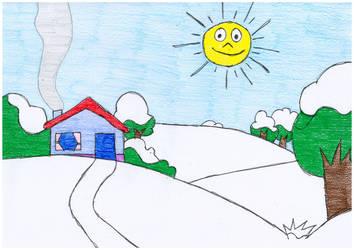 Pimpa Illustration Home Snow