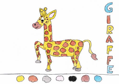 Coloring Drawing Giraffe