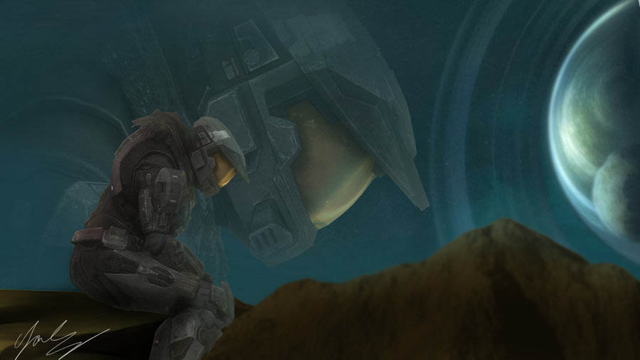 Halo - Melancholy of a Spartan by cfowler7