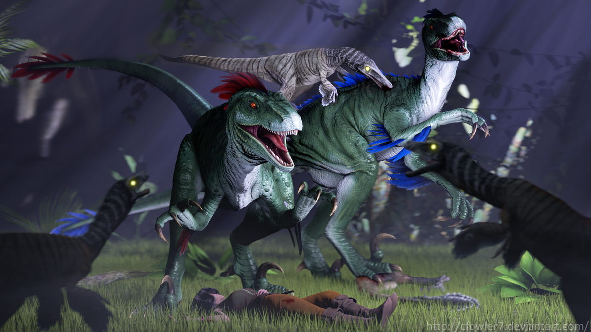 Ark - Troodon Attack by cfowler7