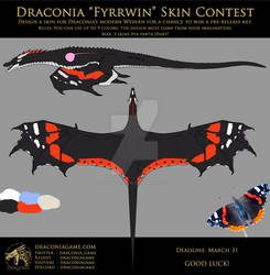 Draconia - Wyvern Skin Contest Entry - Red Admiral