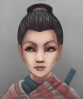 A Female Samurai by Sinroock