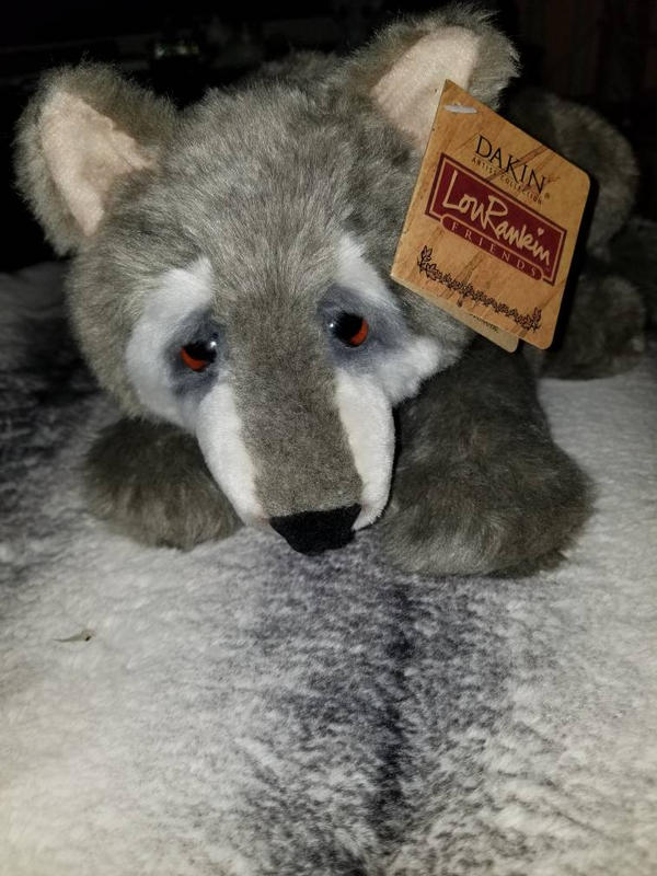 Lou Rankin Wolf plush by sparkskull789