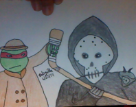 Raphael and Casey Jones by TheBabzilla