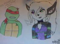 Raphael and Babzilla - colored by TheBabzilla