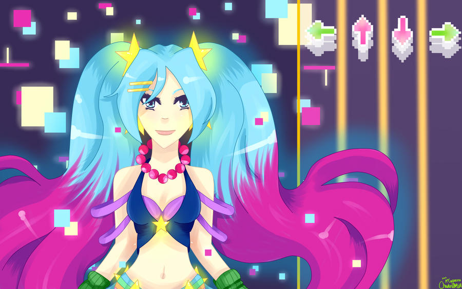 Arcade Sona and Arcade Miss Fortune - wallpaper by ...  Arcade Sona Wallpaper