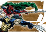 Wolverine, Spider-man and Hulk Colors