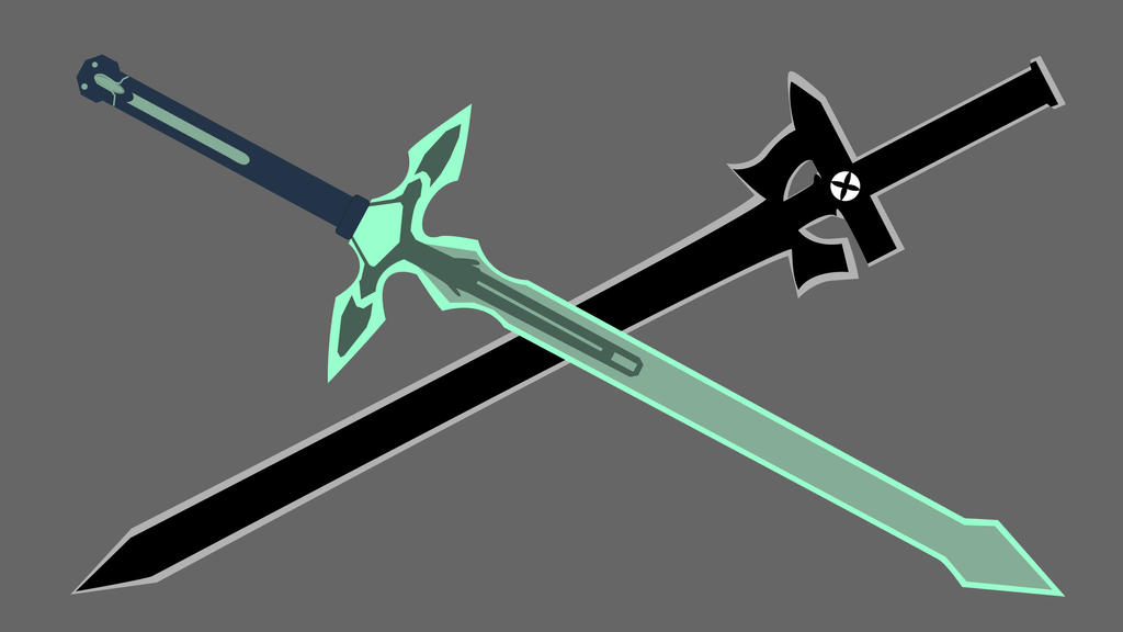 Sword Art Online (SAO) Kirito's Swords by th3battula on ...