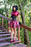 Latex gothic lolita by Violet-Spider
