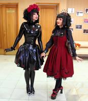 Gothic Ladies by Violet-Spider