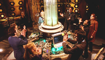 Doctor Who Wallpaper: Journey's End TARDIS Party