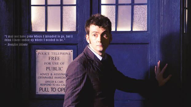 Doctor Who Wallpaper: Ten and TARDIS