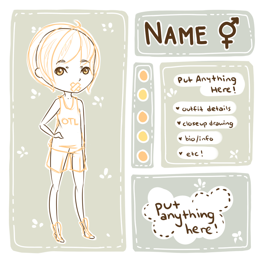 Character Design Template Deviantart : P u character ref template base by milkcosmos on