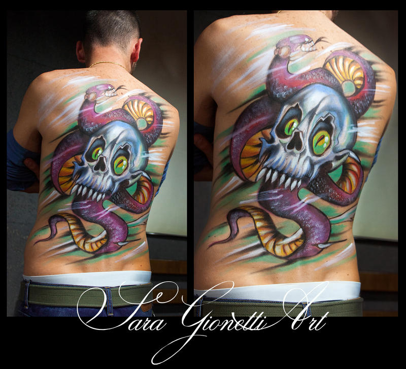 Body Painting tattoo by Gionetti