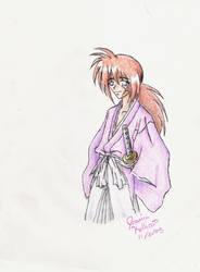 Kenshin doodle by Yahiko-chan