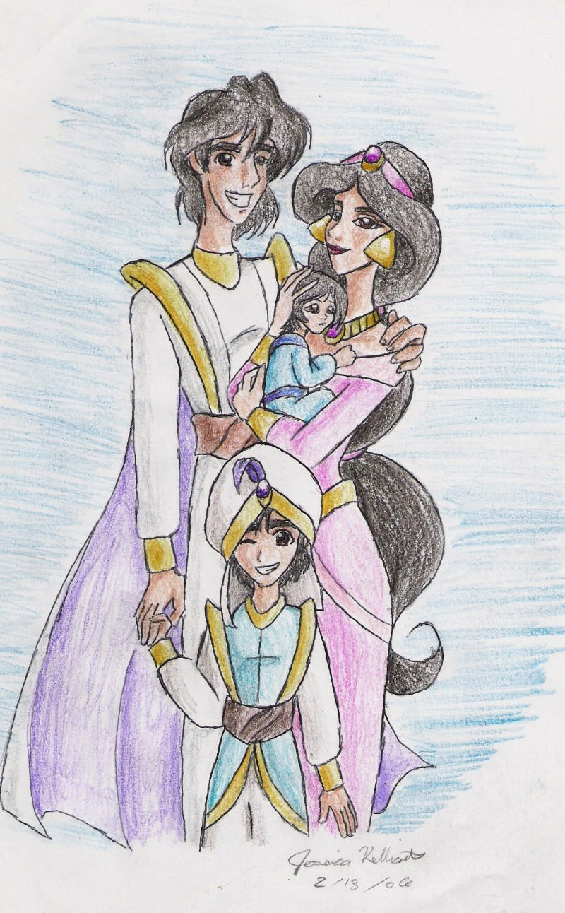 Famille FanArts Agrabah__s_Royal_Family_by_Yahiko_chan