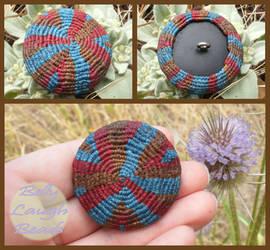 Tribal Macrame Button