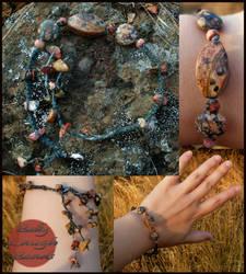 Leopard Jasper Stone/Macrame Bracelet