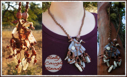 Autumn Roots Stone/Macrame Necklace