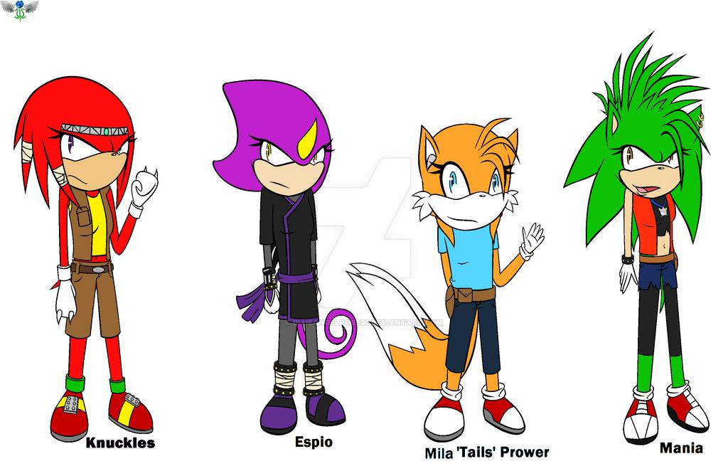 Genderbent Sonic boys Pt. 2 by blueangelrose97