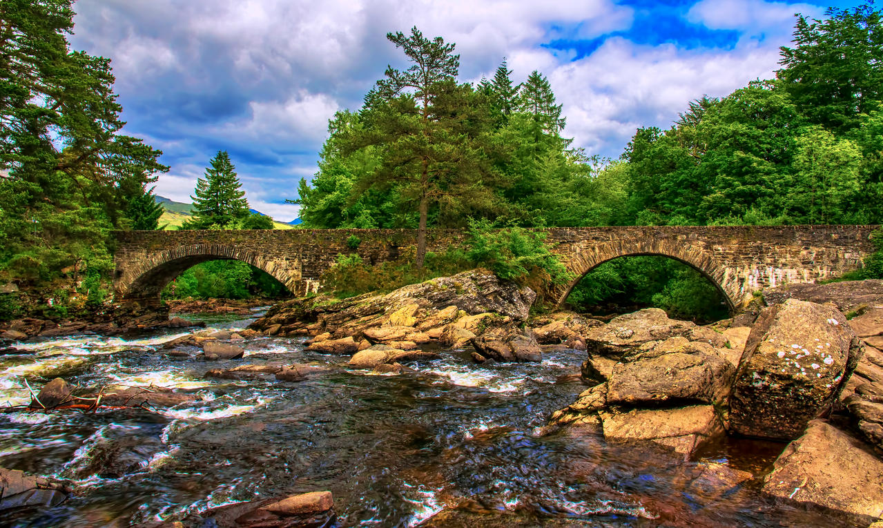 Falls of Dochart, Killin, Scotland by Raiden316