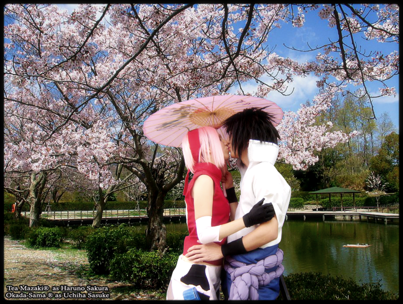 Sasu x Saku kiss by TeaMazaki