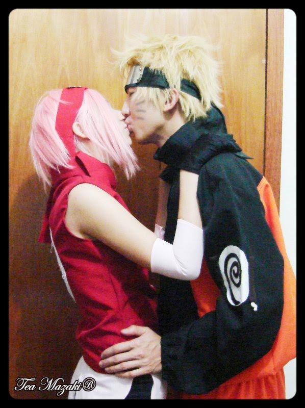 NaruSaku kiss II by TeaMazaki
