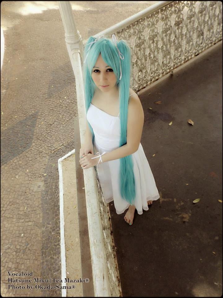 Hatsune Miku White Dress by TeaMazaki