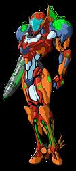 Tyrranux's Power Suit Colored by Ultimatetransfan