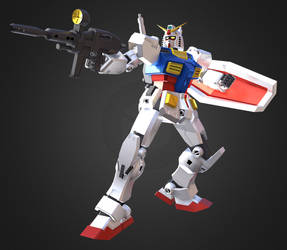3D Gundam RX-78-2 by Ultimatetransfan