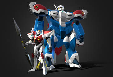 3D Tekkaman Blade and Pegas by Ultimatetransfan