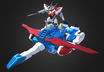 3D Tekkaman Blade and Pegas Flight Mode by Ultimatetransfan