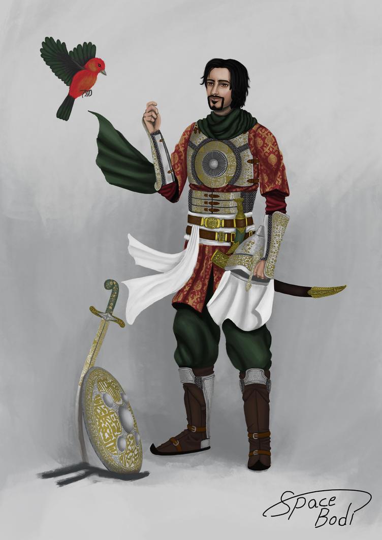 Sindbad as Arabian Knight by SpaceBodi