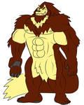 Huge Wolf Beast by WolfBeast99