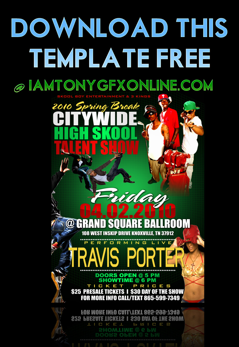 Talent Show Party flyer free by Iamtonygfxonline on DeviantArt