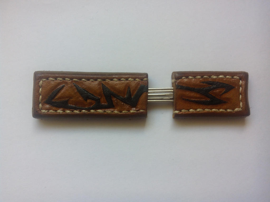 Leather needle case by Bishop-Cz