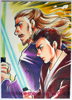 Qui-Gon and Obi-Wan by Sanna-U