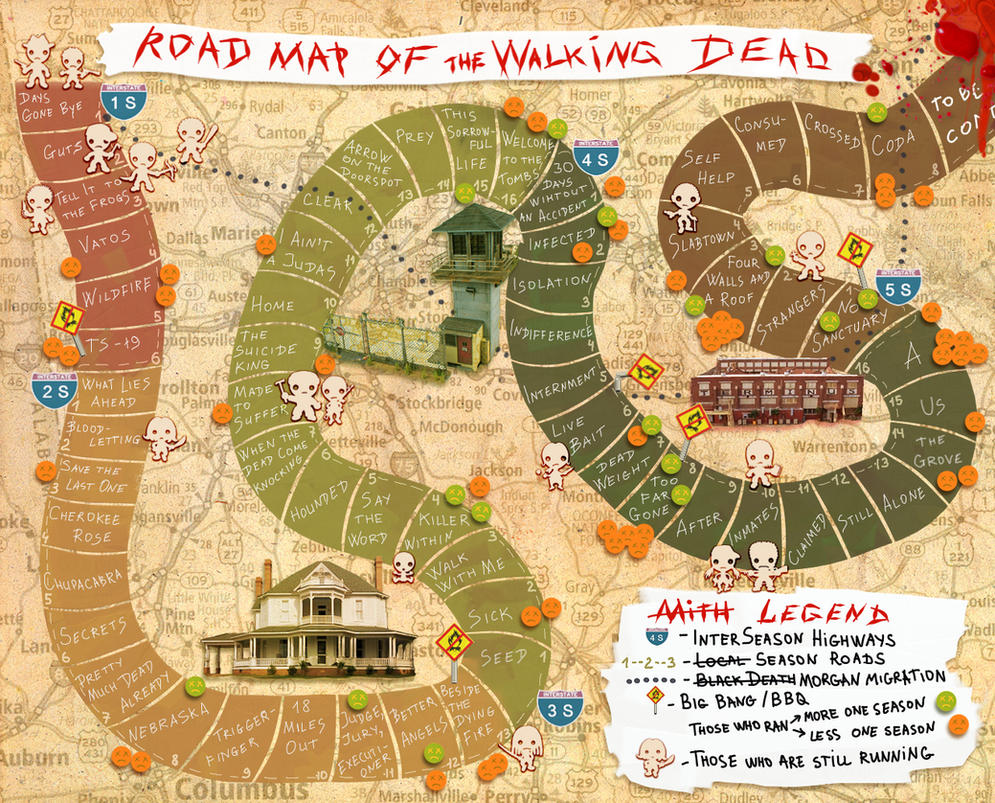 walking dead locations map with Map Of Walking Dead on Harry Potter Wizards Collection Box Set Reveals Full Color Map Of Hogwarts And Surroundings moreover Locations together with Kop further File Red Arrow 001 further Map Of Walking Dead.
